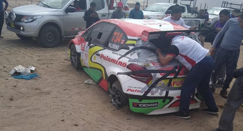 Así quedó el auto de Ríchard Palomino tras el despiste y la volcadura de su auto. (Foto: Mundo Tuerca)