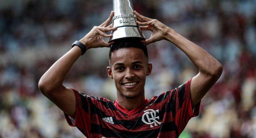Lazaro Vinicius Marques es el goleador del Mengao en las menores. (Foto: André Mourão)