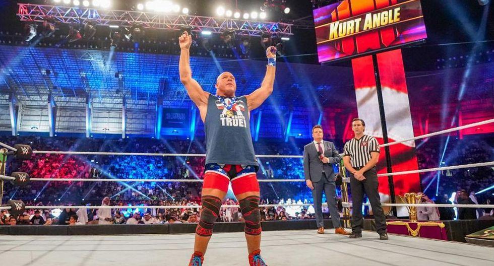 Kurt Angle se retiró de la lucha libre en WrestleMania 35. (Foto: WWE)