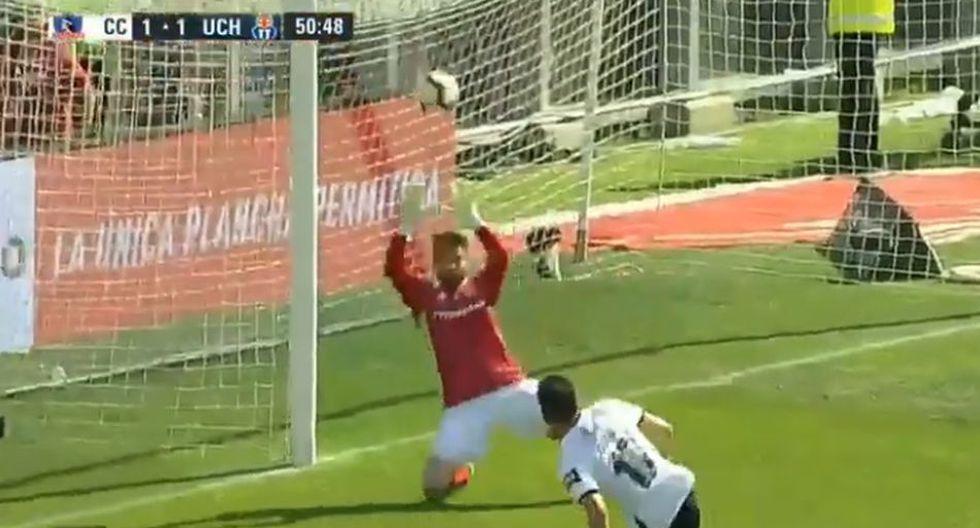 El Gol de Gabriel Suazo para el 1-1 de Colo Colo ante U. de Chile. (CDF)