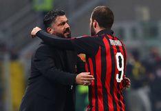 ¿Te quedas o te vas? La respuesta de Gattuso sobre la posible salida de Gonzalo Higuaín