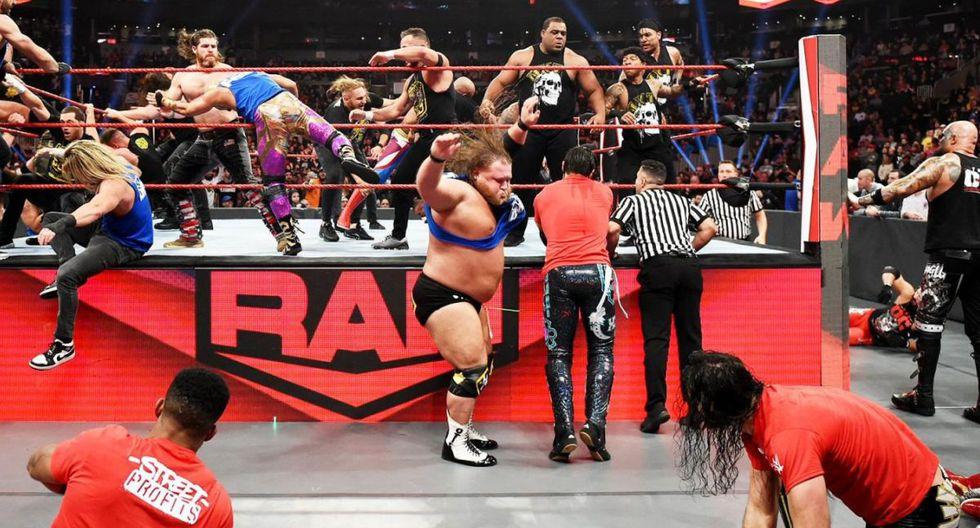 En el último segmento de Raw, hubo una trifulca entre luchadores de SmackDown, NXT y del show rojo. (Foto: WWE)