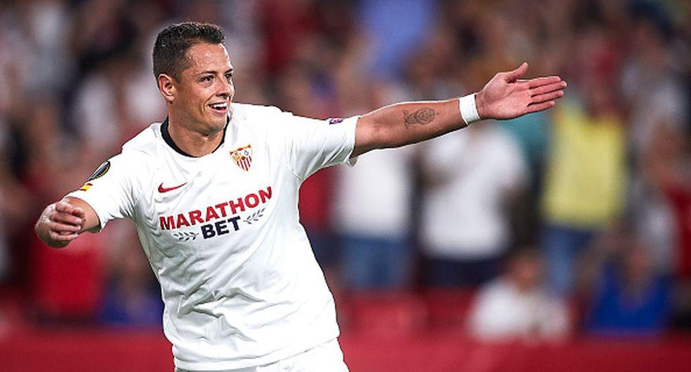Javier Hernández llegó procedente del West Ham de la Premier League. (Getty)