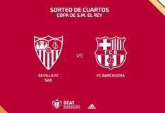 Fecha, horarios y canales de ida y vuelta del Barcelona vs Sevilla por cuartos de final de Copa del Rey 2019