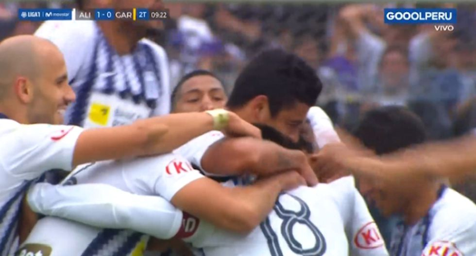 Beltrán marcó el primer gol en el Alianza Lima vs. Real Garcilaso. (Captura)