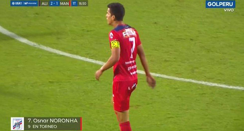 Noronha marcó el descuento en el Alianza Lima vs. Carlos A. Mannucci. (Captura)