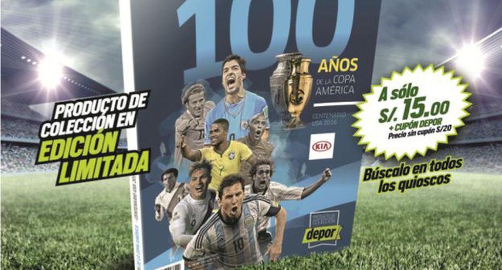 Desde este viernes 13 no te pierdas el libro '100 años de la Copa América' con Depor.