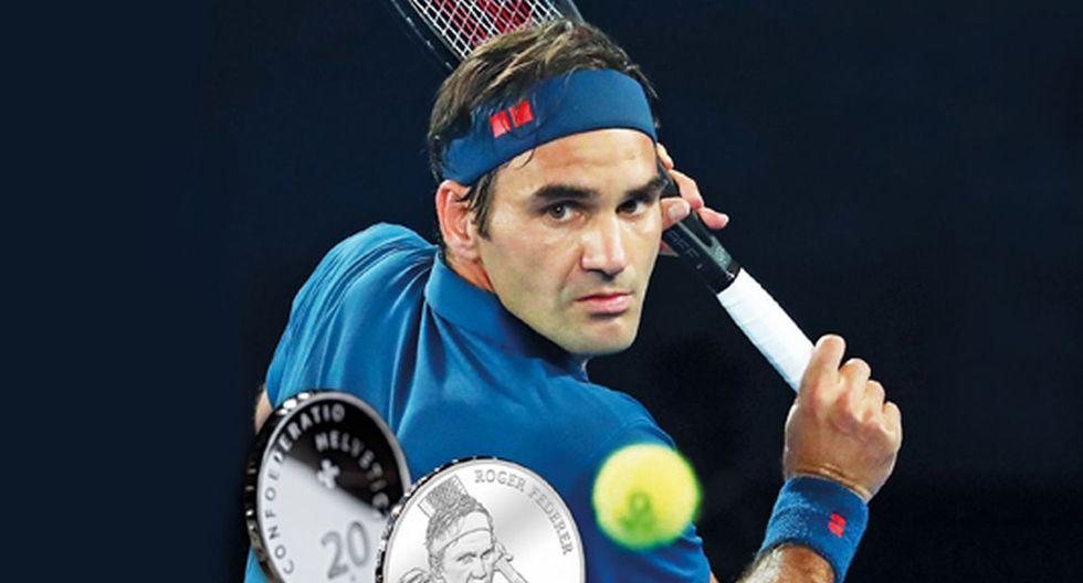 ¡Gran homenaje! Roger Federer aparecerá en las monedas suizas de 20 francos