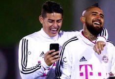 El mensaje de Arturo Vidal a James Rodríguez antes de enfrentar a la Selección Peruana