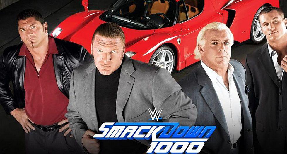 Randy Orton se reunirá con Triple H, Ric Flair y Batista en el SmackDown 1000. (WWE)