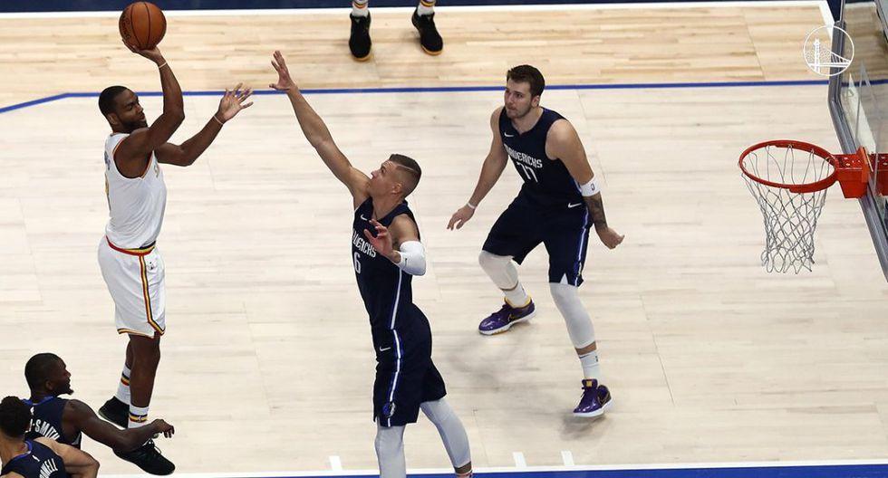 Golden State Warriors perdió ante los Dallas Mavericks por 142-94 con 35 puntos de Luka Doncic. (Getty Images)