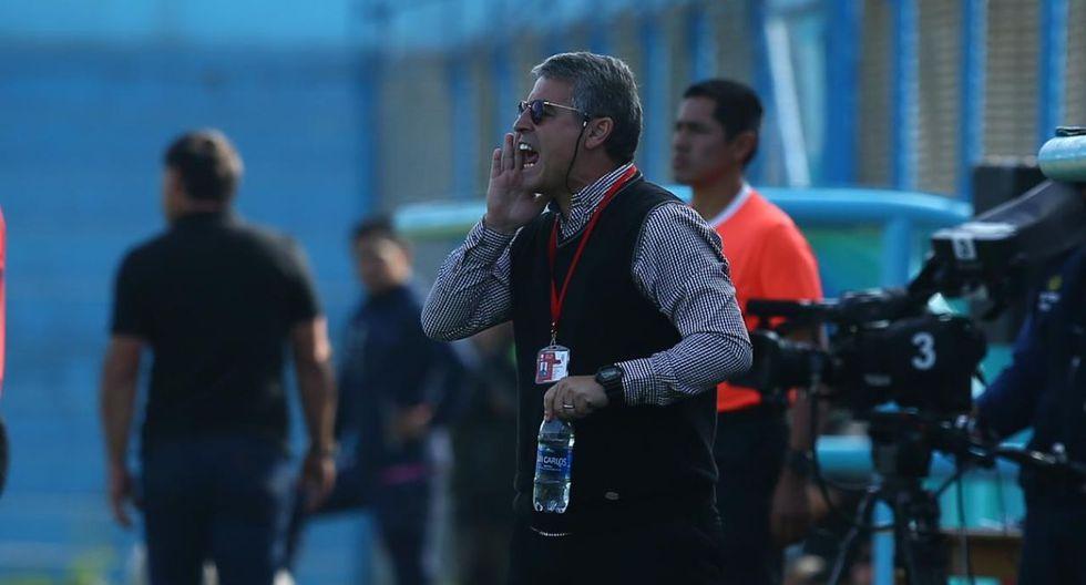 Pablo Bengoechea dio una conferencia de prensa, tras la victoria de Alianza Lima ante San Martín. (Foto: Jesús Saucedo)