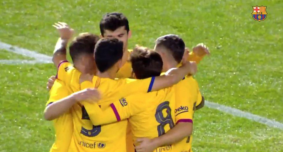 El gol de Carles Pérez ante Cartagena. (Barca TV)