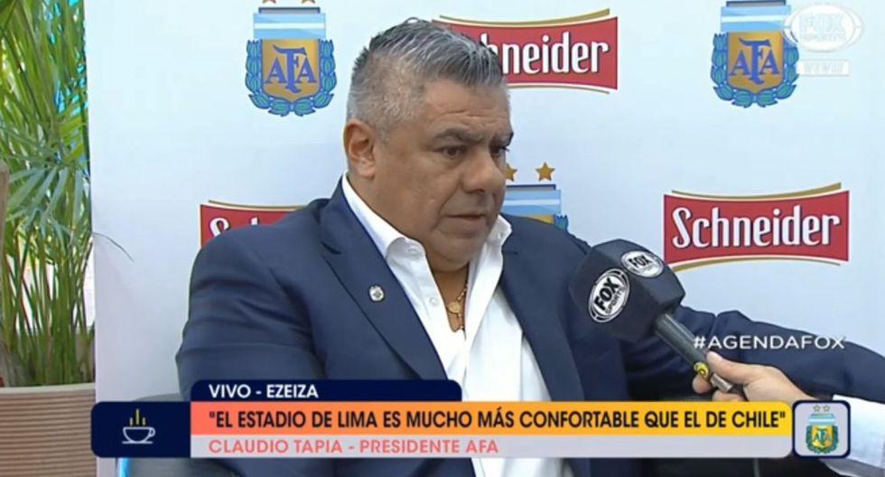"""Chiqui Tapia explica """"El estadio es mucho más confortable del que ibamos a tener en Chile"""""""
