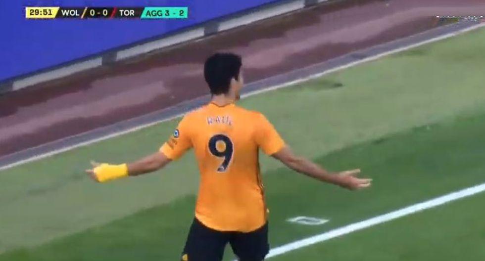 Gol de Raúl Jiménez en el Wolves vs. Torino por Europa League. (YouTube)