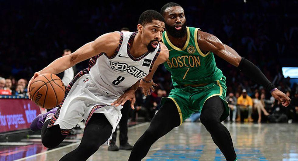 Spencer Dinwiddie anotó 32 puntos ante los Celtics. (Foto: Getty Images)