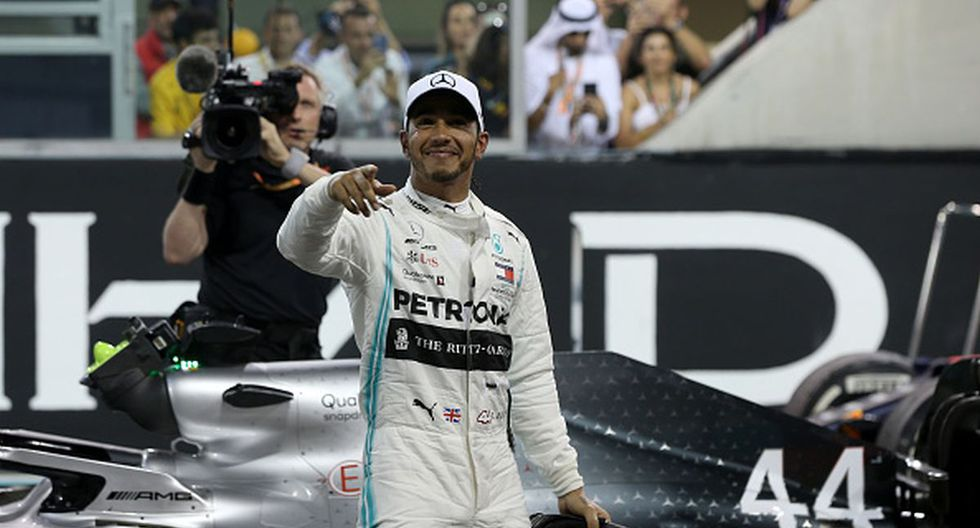¡Festejará a lo grande! Lewis Hamilton ganó el último Gran Premio de la temporada en Abu Dabi