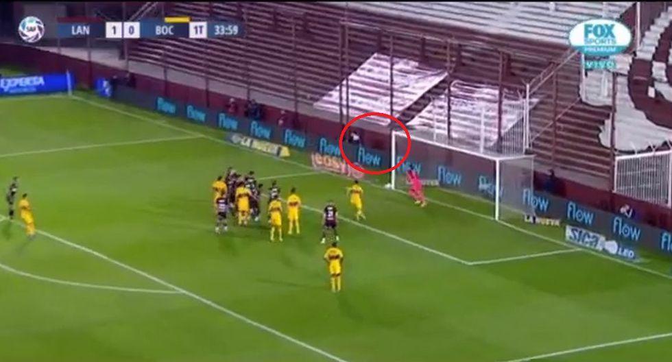 Mauro Zárate de tiro libre para empate entre Boca y Lanús por Superliga Argentina