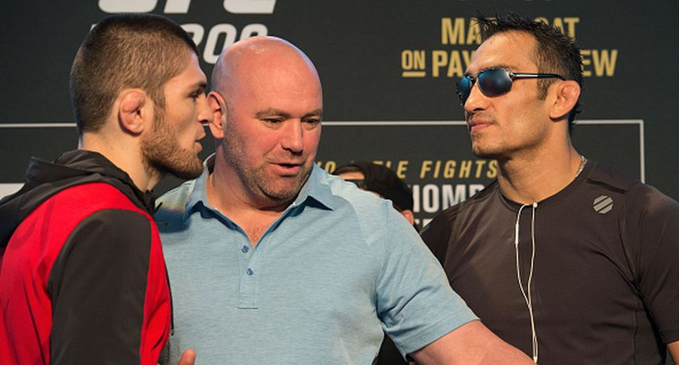 Khabib Nurmagomedov registra un récord de 28-0; Tony Ferguson, 25-3. (Getty Images)