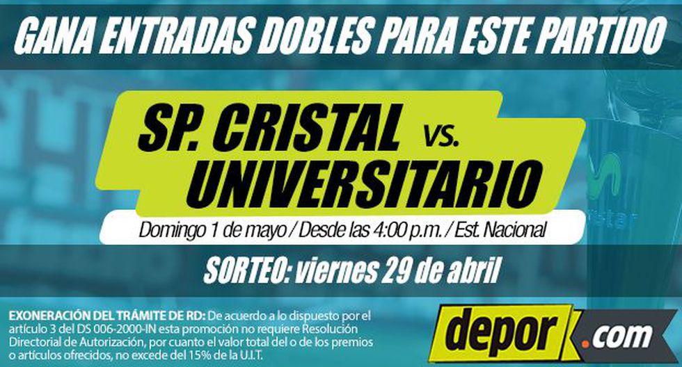 Sporting Cristal vs. Universitario de Deportes: gana 5 entradas dobles