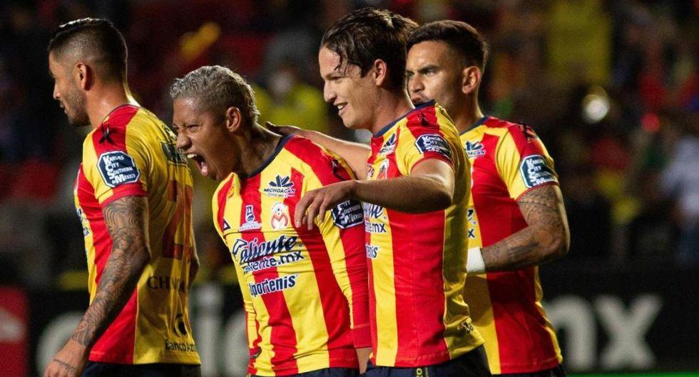 Morelia de Ray Sandoval, Irven Ávila y Edison Flores marcha decimosexto en la tabla del Clausura mexicano con solo cuatro unidades. América ocupa el octavo lugar . (Foto: EFE)