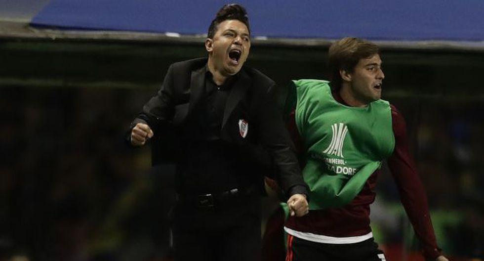 Marcelo Gallardo guió a River Plate a su segunda final consecutiva de Copa Libertadores. (Foto: AFP)