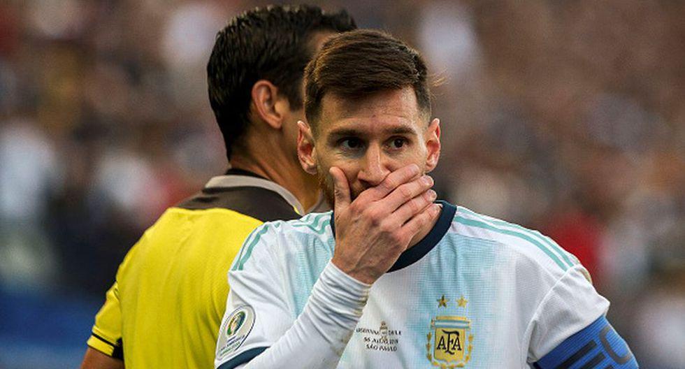 Lionel Messi fue expulsado en el tercer lugar ante Chile por la Copa América 2019. (Getty)