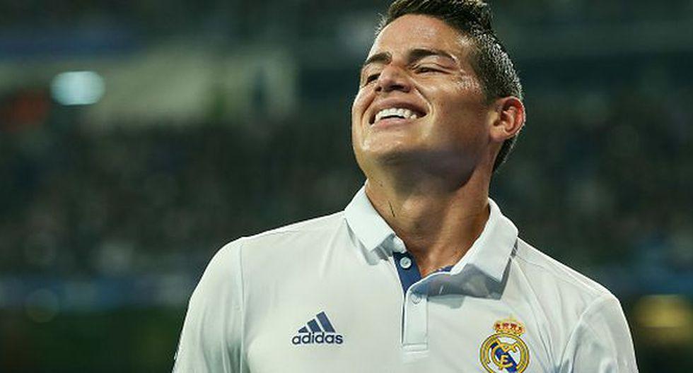 James Rodríguez llegó al Madrid en el 2014 a cambio de 75 millones de euros. (Getty)