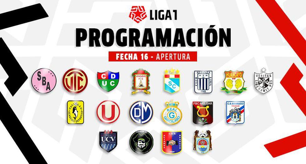 Liga 1: programación completa de la fecha 16 del Torneo Apertura. (Diseño: Depor)