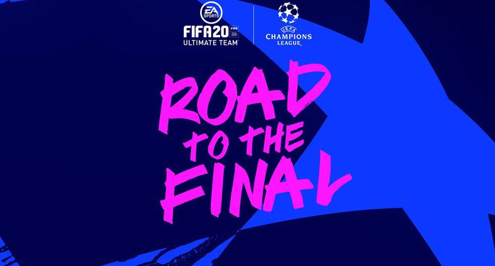FIFA 20: llegan las cartas 'Road To The Final' de Champions League y Europa League. (Foto: EA sports)