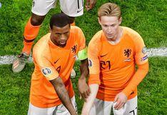 Un solo puño: De Jong y Wijnaldum son viral por 'crear' festejo para combatir el racismo en el fútbol [FOTO]