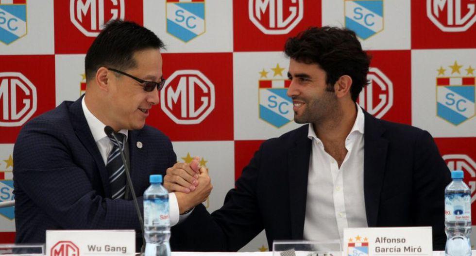 Sporting Cristal presentó a MG Motors como nuevo sponsor. (Foto: Sporting Cristal)