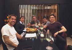 Tomás Costa se reunió con Diego Latorre y Marcelo Benedetto antes de la final de la Libertadores [FOTO]