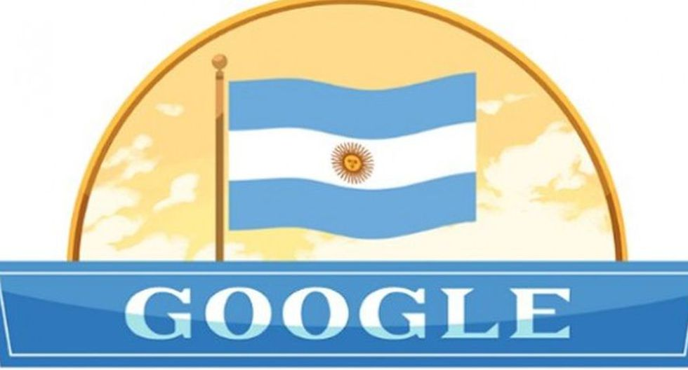 Doodle dedicado a la Independencia de Argentina (Google)