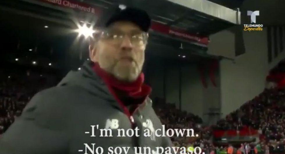 """""""¡No soy un payaso!"""": Jurgen Klopp explota contra las cámaras de TV luego que le pidan que 'haga un gesto'"""